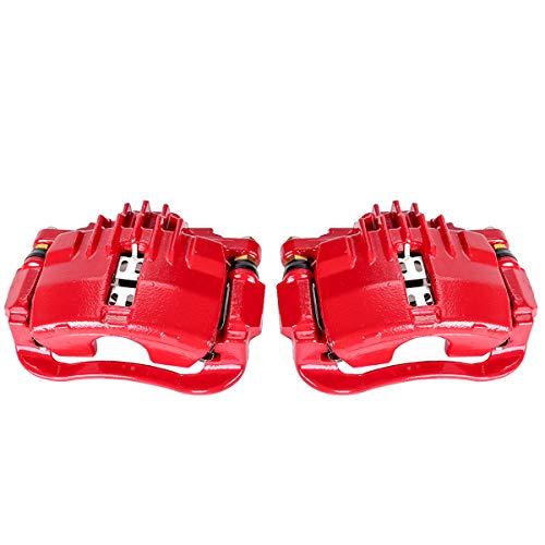 Callahan CCK05301 [2] REAR Premium Semi-Loaded Red Brake Caliper Pair + Clips Kit [for Chevrolet S10 T10 Jimmy Sonoma]