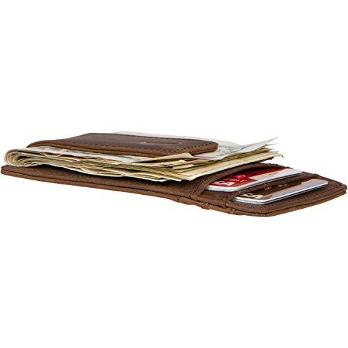 22f48a2236 Slim Leather Money Clip Wallet for Men - Best Front Pocket Wallet with Credit  Card Holder