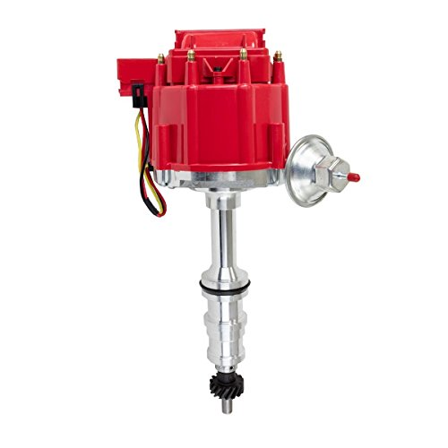 A-Team Performance 65K COIL HEI Complete Distributor Compatible With Ford HD FE//FT 330 361 391 Heavy Duty FE//FT 5//16 Shaft Red Cap 1-Wire Instillation