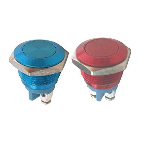 16mm 押しボタンスイッチ 2個 ラッチング 金属 防水仕様