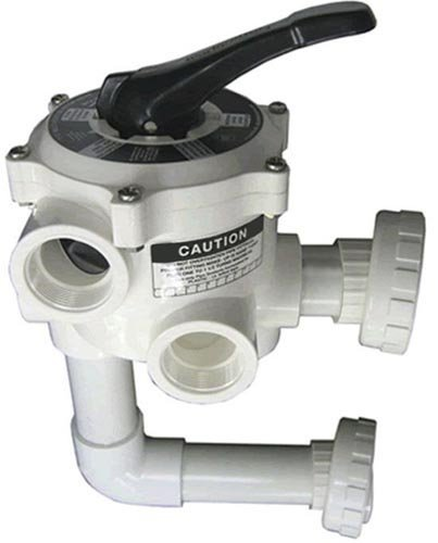 Sta-Rite 18201-0200 ABS 6-Position Multiport Valve, 2 Inch Valve Port with Piping, Union Connection Design