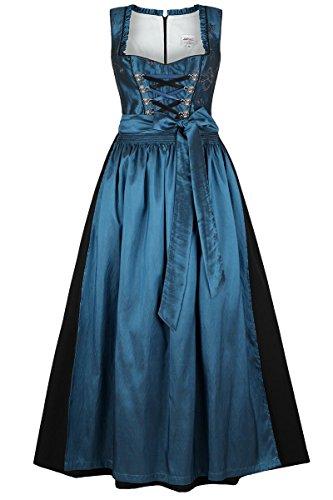 Damen Stützle Dirndl lang festlich blau, blau, 42