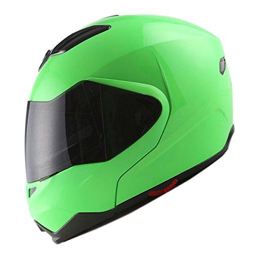 Green Motorcycle Helmet - 3