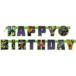 Teenage Mutant Ninja Turtles 5.5ft Birthday Banner