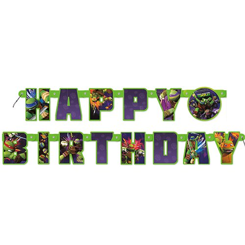 5.5ft Teenage Mutant Ninja Turtles Birthday Banner ()