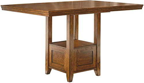 - Ashley Furniture Signature Design - Ralene Counter Height Dining Room Table - Burnished - Medium Brown