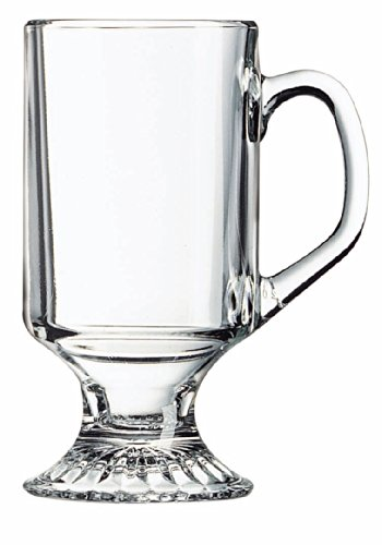 Arc International Luminarc Irish Footed Mug, 10-Ounce, Set of - Irish Glass Coffee Set