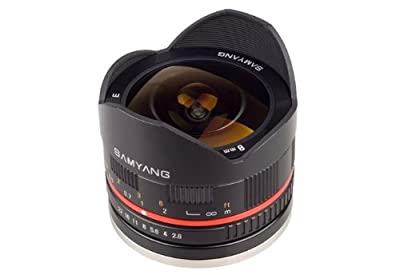 Samyang 8mm F2.8 UMC Fisheye II (Black) Lens for Canon EF-M Mount Compact System Cameras by Samyang