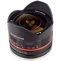 Samyang 8mm F2.8 UMC Fisheye II (Black) Lens for Fuji X Mount Digital Cameras (SY8MBK28-FX)