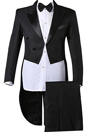 941c919a4f6a6 Enteriza タキシード 燕尾服 メンズ ダブルボタン パンツ ベルト ボータイ付き 4点セット スーツ 上下セット