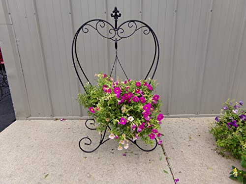 "40"" Heart Shaped Metal Folding Plant Stand"