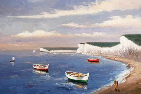 Oil Painting 'the Vasty And Beautiful Sea', 24 x 36 inch / 61 x 92 cm , on High Definition HD canvas prints is for Gifts And Basement, Game Room And Powder Room Decoration, (Hamilton 12