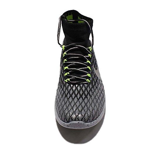 Nike Mens Lunarepic Flyknit Shield Scarpe Da Corsa Nero / Argento Metallizzato