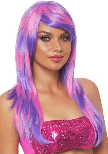 Leg Avenue Women's Cheshire Laye Two Tone Wig, Pink/Purple, One Sizes Fit Most]()