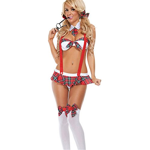 Adult Games Sex Toys New Sexy Erotic Uniform Dress Skirt+Bra+Straps Set Halloween Cosplay For (Sexy Private School Costumes)
