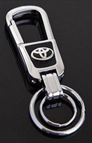 TSD Car Key chain Zinc alloy Handmade Leather Double Ring Keychain For Toyota