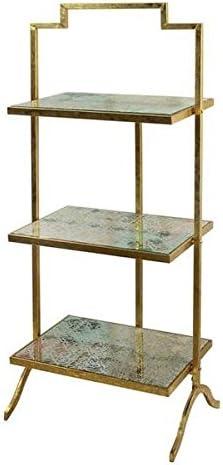 Muebles, estantería, 108 x 44 cm color dorado: Amazon.es: Hogar