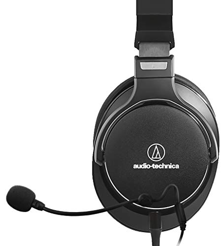 (Audio-Technica ATH-MSR7NC Headphones with Active Noise Canceling Bundle with Antlion Audio ModMic 4 with Mute Switch, Blucoil Y Splitter for Audio, Mic and USB Audio Adapter )