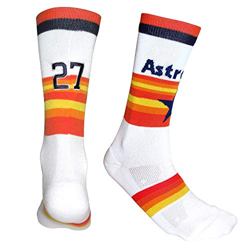 - PKWY by Stance MLB Mens Socks| Major League Baseball Favorite Team Player Jersey Athletic Crew Sock ASTROS XL