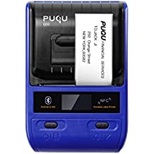 PUQU Smartphone Thermal Label Maker, Portable Mini Wireless Label Printer Q20 With Bluetooth Connectivity, Support Android and iOS System (Blue)