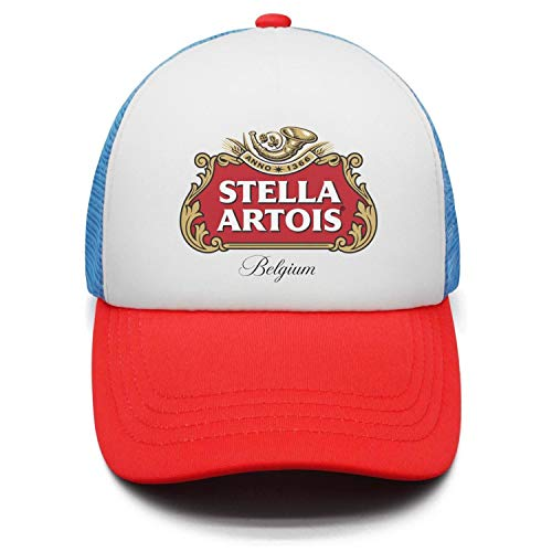 YJRTISF Popular Music Stella-Artois-Beer-Logo- Fashion Hat Top Stations Trucker Cap for Kids Boys & Girls ()