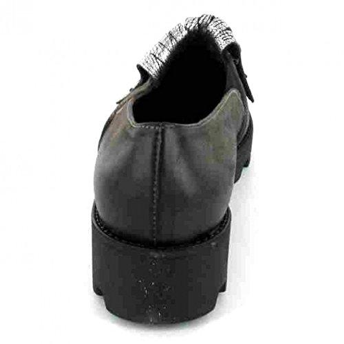 Lazamani Slipper , Farbe: grau/silber