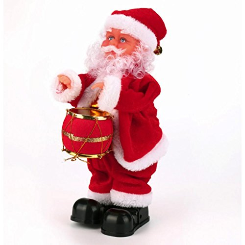 Christmas Santa Claus Toy, COOL99 Singing Electric for Kids Decorations Christmas Gifts(Drumming)
