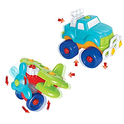 Joyin Toy Take-a-part Train, Truck, Helicopter and Submarine Toys with Power Drill Driver Construction Tool Toddler Push Car Toy Set: Toys & Games