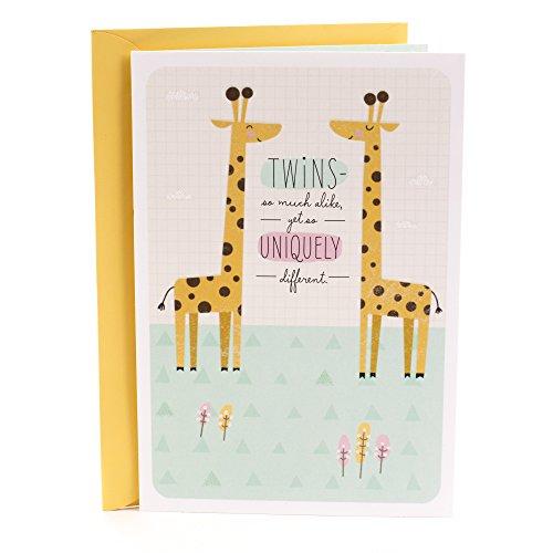 Hallmark Baby Shower Card (Congratulations Twins)