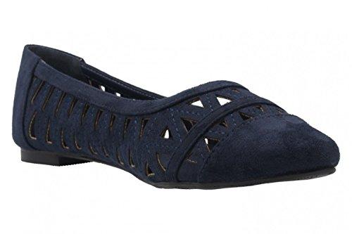 ANDRES MACHADO - Damen Ballerinas - Blau Schuhe in Übergrößen
