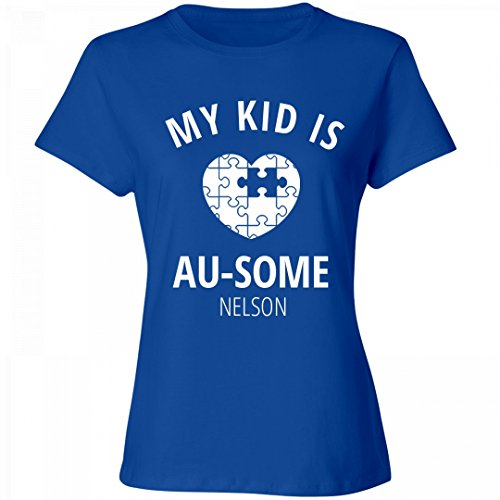 FUNNYSHIRTS.ORG My Kid Is AU-Some Nelson: Ladies Relaxed Fit Cotton - Au Nelson