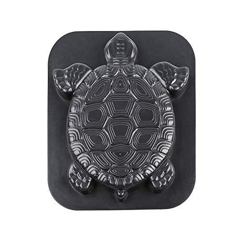 DIY plastic mold stepping stone mold reusable garden path mold garden lawn manufacturer paving stone mold - turtle shape - black