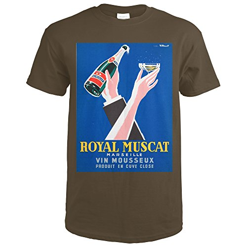 Royal Muscat Vintage Poster (artist: Villemot, Bernard) France (Dark Chocolate T-Shirt XX-Large)
