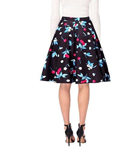 HEFEI Jupe Haute XIAOXAIO Bleu Taille L Couleur pour plisse Taille Femme txxq6Brd