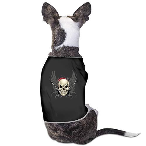 Dog Cat Pet Shirt Cute Puppy Apparels Clothes Kitten Vest Soft Thin Skull Tattoo Guitar 3 Sizes