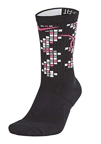 NIKE Men's Elite Kay Yow Basketball Crew Socks Black Size XL