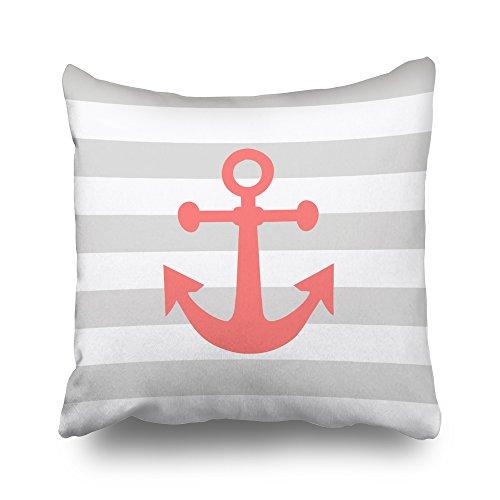Nautical Coral Anchor - Soopat Pillowcover 18