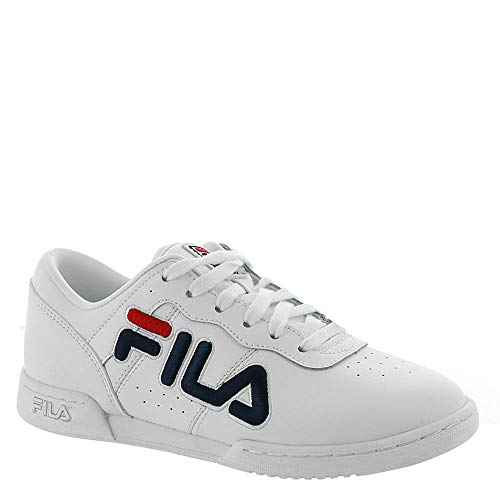 Original Fitness Sneaker - Fila Womens Original Fitness, White/Navy/Red, Size 8.5