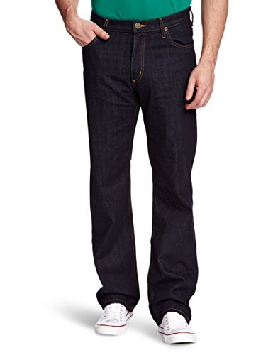 e008711e Lee Men's Brooklyn Comfort One Wash Straight Jeans W44/ L32 ...