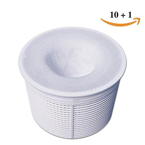 Pool Skimmer Seal (10-Pack of Pool Skimmer Socks for Filter, Skimmer, Basket with 1 BONUS sock)