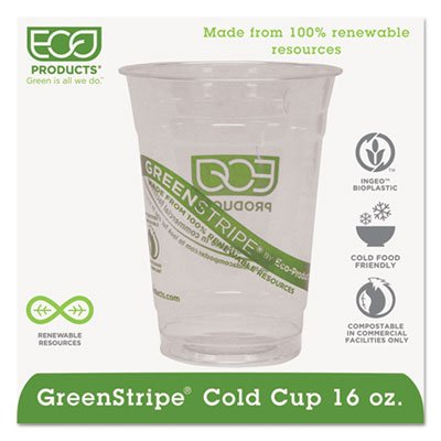 Eco-Products® GreenStripe® Cold Drink Cups ECP EP-CC16-GS