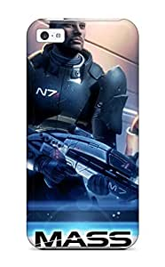 TYH - Best 44K4 First-class Case Cover For ipod Touch 4 Dual Protection Cover Mass Effect phone case
