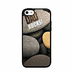 Funny Dad Rocks Plastic Phone Case Back Cover iPhone 5 5s