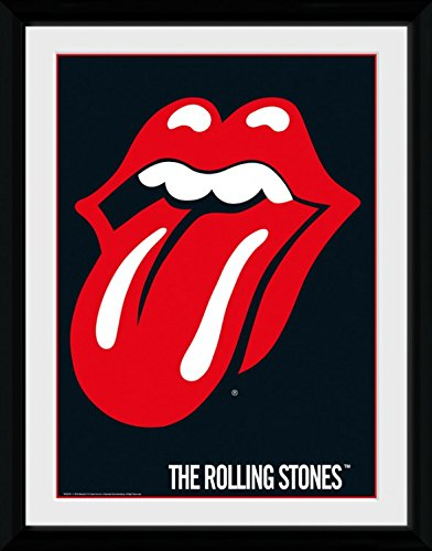 Rolling Stones Framed Collector Poster - Lips (16 x 12 inches)