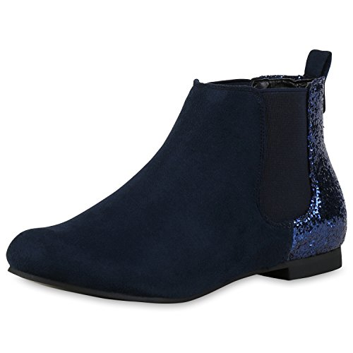 Japado - Botas Chelsea Mujer azul oscuro