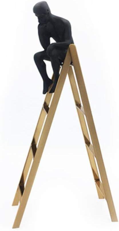 anyuq66qq Adorno Escultura Auguste Rodin Pensador Escultura Pensador Lindo En La Escalera Exhibidor De Ventana Estantería Clásica Decoración del Hogar Hombre Negro Metal, Pensador En La Escalera: Amazon.es: Hogar