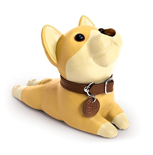 Cute Cat Dog Door Stopper Wedge Non-Slip Non-Scratching Baby Child Safety Doorstop Works on All Floor Surfaces (Yellow Dog)