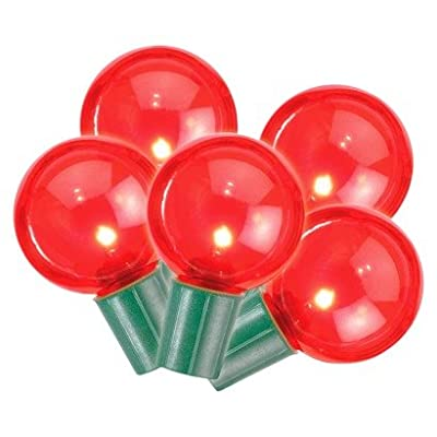 Philips Red G40 Globe 25 ct. LED String Lights - Green Wire