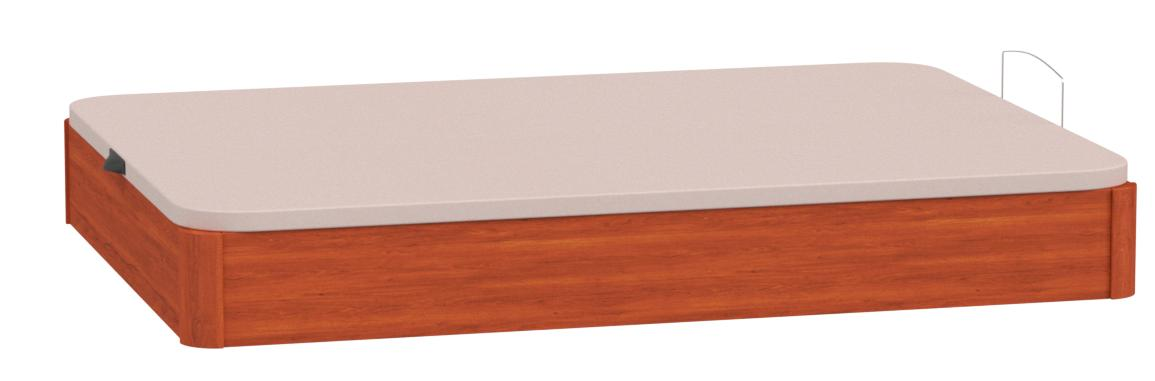 DhestiaHome. Canapé Abatible de Madera de Gran Capacidad con Ventilación. Altura 29cm. (190x135 cm, Wengué)
