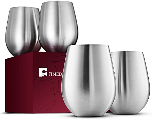 Stainless Steel Wine Glasses Stemless product image